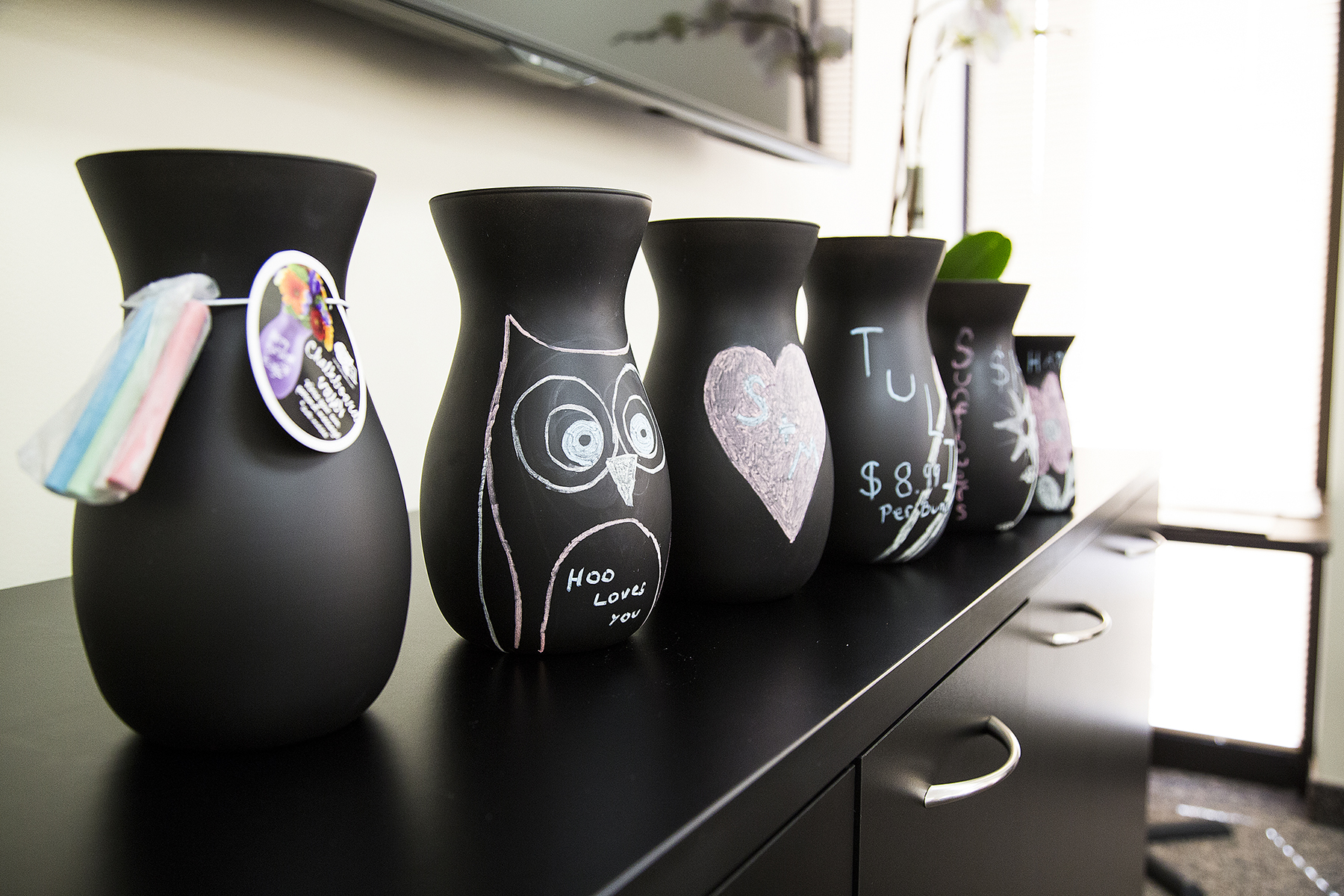 Chalkboard Vases are Here!